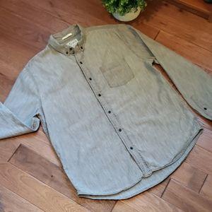 Lucky Brand Gray Denim Long Sleeve Size L